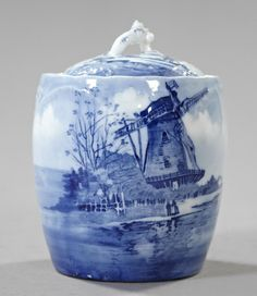 Rosenthal, Bavaria, Porcelain Biscuit Jar