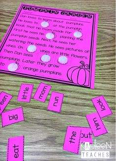 Free cut and paste readers for fall. Reading Stations, Reading Centers, Reading Intervention, Reading Activities, Guided Reading, Reading Comprehension, Reading Wall, Reading Tutoring, Literacy Centers
