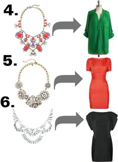 how to wear statement necklaces #2