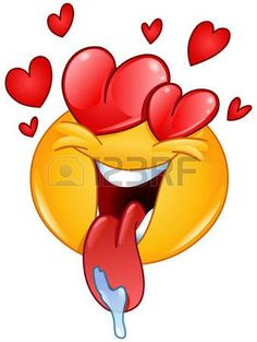 In liefde emoticon met hartjes en tong uit kwijlen http://teencamz.com