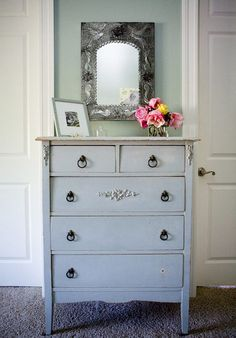 love the dresser... this color, another accent, or switch to white/distressed