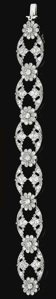 Bracelet solid sterling silver 925 Round flower vintage style new jewelry women* #NikiGems #Bracelet