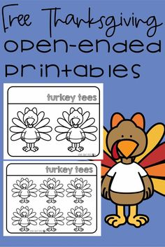 Free Thanksgiving Themed - Turkey Tees Printable for Articulation and Language Goals Speech and Language Therapy Articulation Therapy, Speech Activities, Speech Therapy Activities, Speech Language Pathology, Language Activities, Speech And Language, Free Thanksgiving Printables, Thanksgiving Preschool, Free Printables