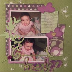 Layout: Purple and green
