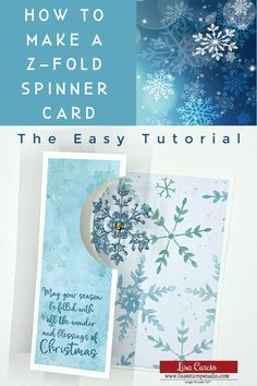 Learn how to make a Z-fold spinner card! This easy video tutorial will have you hooked on making these handmade cards! Perfect idea as a Christmas card, Birthday card or any occasion! Watch the video tutorial www.lisasstampstudio.com. #zfoldcards #spinnercards #interactivecards #funfoldcards #cardmakingtutorials #cardmakingideas #handmadecards #christmascardideas #handmadechristmascards #lisacurcio #lisasstampstudio #stampinup #stampinupcards Stamped Christmas Cards, Christmas Cards To Make, Xmas Cards, Card Making Tutorials, Card Making Techniques, Making Ideas, Fancy Fold Cards, Folded Cards, Spinner Card
