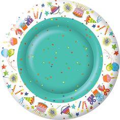 IHR Happy Day Birthday Celebration Paper Print Paper Dinner Plates Wholesale PG005300
