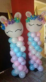 14 Ideas para decorar con globos una fiesta de unicornios ~ Solountip.com