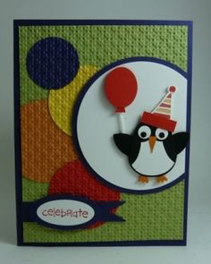 penguin card using the su owl punch from Michelle's Stamping Blog by Juca