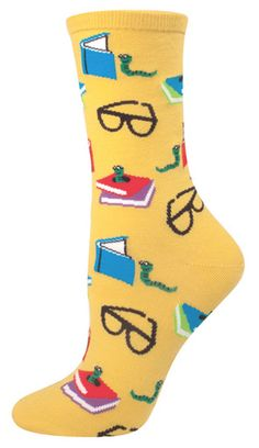 Bookworm socks. Enough said. | Community Post: 8 Bookish Gifts For The Reader On Your Holiday List