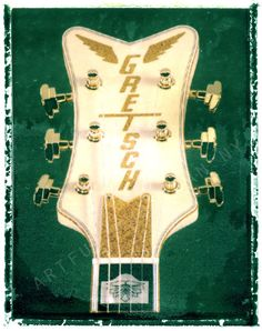Guitar art, guitar print,  Gretsch falcon headstock  $25.00 http://www.guitarartprint.com