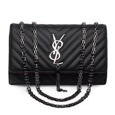 Crossbody Bags For Women With Chain Women Bag Luxury Brand Shoulder Bags Ladies Solid Vintage Bag Messenger Women Designer Black