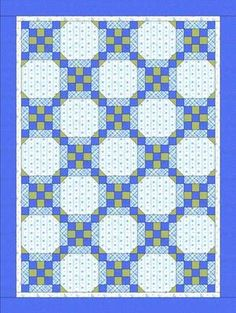 Free Baby Quilt Patterns - Framed Nine Patch Baby Quilt Pattern