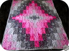 ProsperityStuff Quilts: A Little Bargello Quilt - Pink, Black, White, and Gray