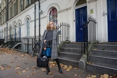 Blue Satin in Fall London Fashion, Winter Fashion, Blue Satin, My Style, Winter Fashion Looks, London Street Fashion