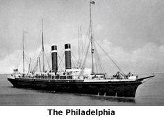 Immigration: One of the ships to Ellis Island - The Philadelphia. #EllisIsland #history
