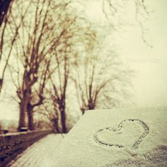 Heart in snow #snow #vintage #photography