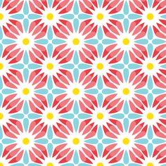 Crazy Daisy  fabric by heatherdutton on Spoonflower - custom fabric