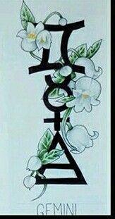 Gemini Mercury Air Lily of Valley - Letter Tattoos Zodiac Tattoos, Body Art Tattoos, New Tattoos, Cool Tattoos, Gemini Tattoos, Tatoos, Sleeve Tattoos, Gemini Tattoo Designs, Future Tattoos