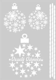 Vánoční ozdoby - samolepka na okno