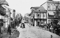 Porto Alegre antigamente: Rua Marechal Floriano (fins do século XIX).