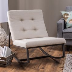$179 Belham Living Grayson Tufted Rocking Chair - You don't have to sit in a creaky, wooden chair to enjoy the simple pleasure of a rocking chair, not when you can add the sophisticated si...