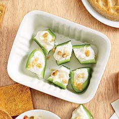 Healthy Office Snacks Recipes: Cucumber-Feta Bites | CookingLight.com
