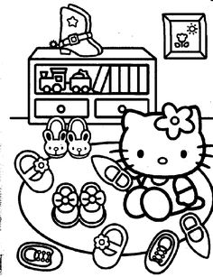 Hello Kitty Her Many Shoes