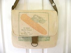 Vintage Dekalb seed sack upcycled by LoriesBags on Etsy