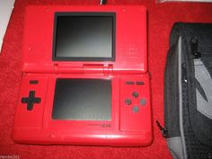 Nintendo DS NDS NTR 001 RED Gaming Console NDS plays DS & Game Boy Advance #Nintendo