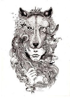 wolf mural kerby rosanes Doodle Coloring pages coloring adult detailed advanced . - wolf mural kerby rosanes Doodle Coloring pages coloring adult detailed advanced printable Coloring - Tattoo Design Drawings, Art Drawings, Tattoo Designs, Drawing Art, Sketch Tattoo, Colour Drawing, Amazing Drawings, Doodle Art, Witcher Wallpaper