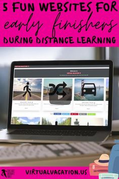 What do you do when your students have finished their distance learning tasks? Remote learning can be challenging as you try to ensure all your students are learning, progressing and occupied. It can be difficult to find suitable and fun virtual learning activities to issue as extension work for your early finishers. Keep reading to learn 5 creative ideas for your early finishers during a distance, hybrid or blended learning classroom! virtualvacation.us Free Teaching Resources, School Resources, Learning Activities, Teaching Ideas, Teacher Blogs, New Teachers, School Direct, High School Classroom, Technology Integration