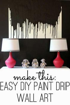 easy way to make modern wall art