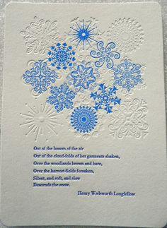 Embedded image permalink Snowflake card by Saltbox Press