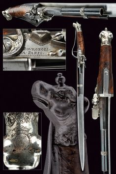 A very rare hunting hanger with flintlock pistol by Bourgeois, of noble property. provenance: Paris...