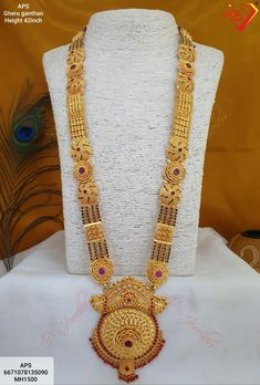 Gold Ring Designs, Gold Earrings Designs, Beaded Jewelry Designs, 1 Gram Gold Jewellery, Gold Jewellery Design, Silver Jewelry, Jewelry Necklaces, Gold Necklace, Indian Wedding Jewelry