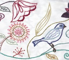 PDF Jacobean Hand Embroidery Pattern Five Designs by Waterrose, $18.00
