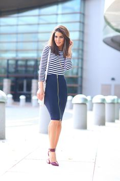LOOK DO DIA: CHIC NAVY STYLE                                                                                                                                                                                 Mais