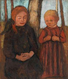 Veranstaltungen Paula Modersohn Becker, Female Painters, Figure Poses, Tree Trunks, Collaborative Art, Spring Art, Teaching Art, Beautiful Paintings, Les Oeuvres