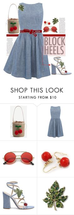 """""""Summer Nights."""" by s-elle ❤ liked on Polyvore featuring WithChic, Gianvito Rossi, Kenneth Jay Lane, Dsquared2 and blockheels"""