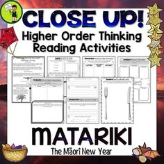 Matariki Reading Comprehension Passages and Questions New Zealand Improve Reading Comprehension, Text Dependent Questions, Higher Order Thinking, Reading Passages, Close Reading, Nonfiction, Teaching Resources, Texts, Classroom