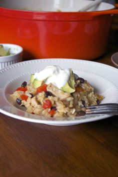 Arroz Con Pollo ~ Perfect comfort food for chilly fall evenings! A gluten free meal.