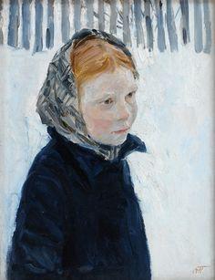 Girl in Winter... Plastov