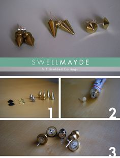 swellmayde: DIY | Studded Earrings