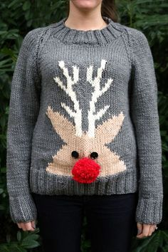 How to Knit a Chunky Christmas Jumper #knitting #reindeer #christmas