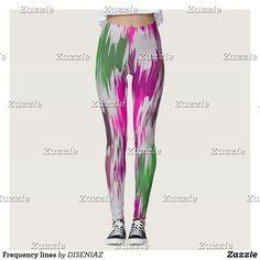 Shop Frequency lines leggings created by DISENIAZ. Womens Grey Leggings, Casual Home Decor, Leggings Fashion, Dressmaking, Pink Purple, Things That Bounce, Pajama Pants, Pattern, Sew Dress
