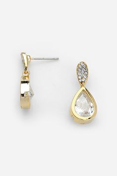 CZ Charlie Earrings in Gold | Women's Clothes, Casual Dresses, Fashion Earrings & Accessories | Emma Stine Limited