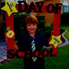 First day of school frame