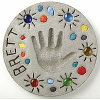 Make Your Own Stepping Stone - Step out into your yard or garden and see your childs own art work on display. Contains everything you will need to make one garden stone 5.5 x 7.5. This project makes a good keepsake for your family with your own personal touch to make it even more special to cherish.