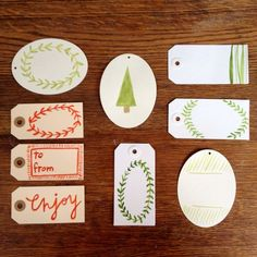 Watercolor Christmas Gift Tags by Mint + Maple