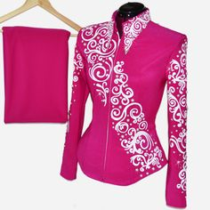 Fuchsia Pearls Showmanship Set S/M, $800.00 by Lisa Nelle Show Clothing